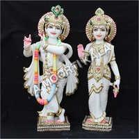 Krishna Jodi Marble Statue