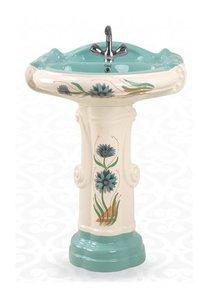 big sterling wash basin pedestal