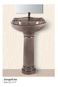 Rustic wash basin pedestal