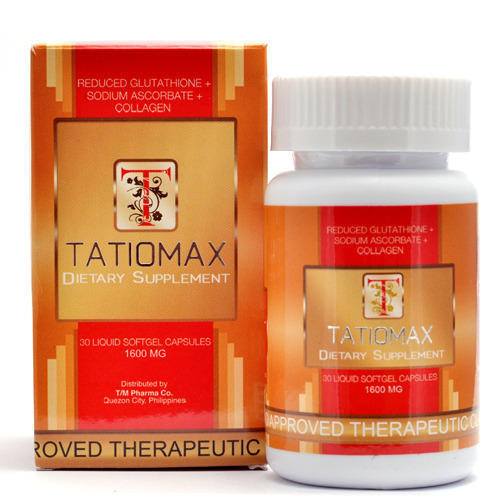 Tatiomax Plus 1600 Mg Softgels - Skin Whitening Capsules