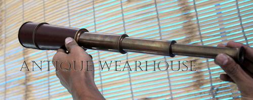 Brass Spy Glass Pocket Travel Telescope Gift