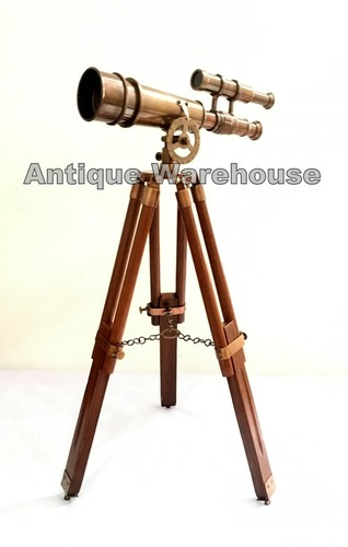 Nautical Handmade Brass Telescope With Stand