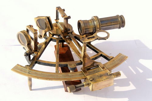 Heavy Nautical Brass Sextant
