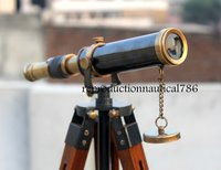 Brass Two Tone Telescope With Tripod Spy Glass Telescope