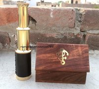 Brass Pocket Telescope Wooden Box