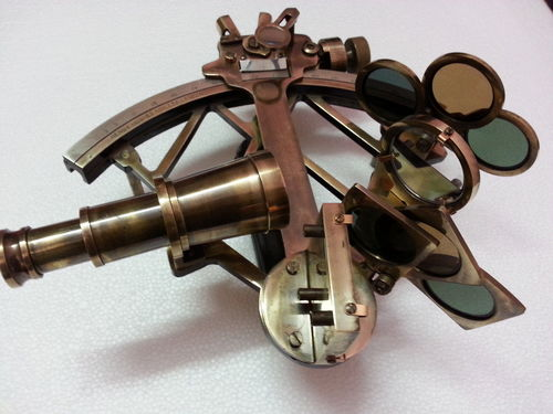 Large Brass Sextant