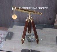 Single Barrel Brass Pirate Telescope Scope