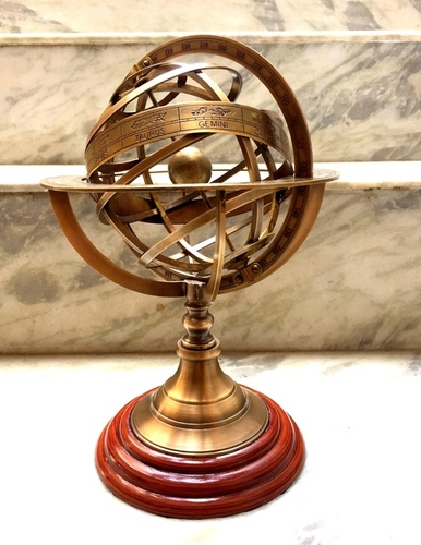 Solid Brass Armillary Handmade Nautical Sphere World Globe.