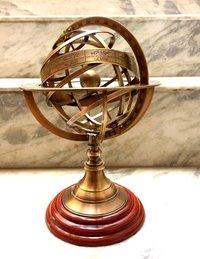 Solid Brass Armillary Handmade Nautical Sphere World Globe.