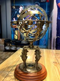 Solid Brass Lion Armillary
