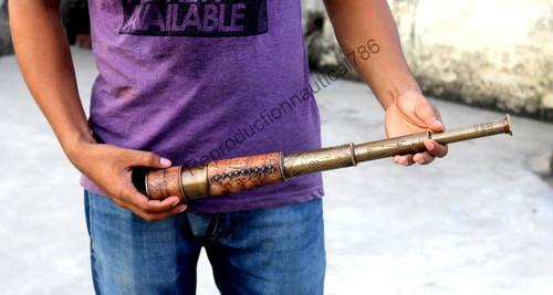 Antique Pirate Brass Marine Telescope Scope