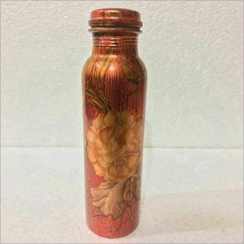 Flower Print Water Bottle