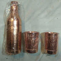 Copper Bottle with Glass