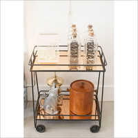 Dining Rectangular Vintage Bar Cart