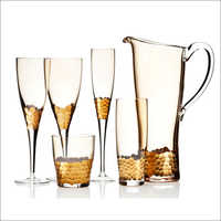 Stylish Glass Bar Accessories Set