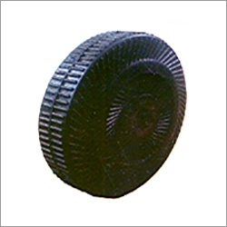 Full Rubber Moulded Wheels With MS PIPE-CI Bush