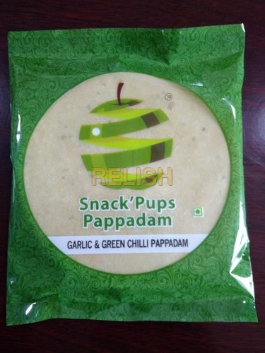 Madras Garlic & Green Chilli Pappadam