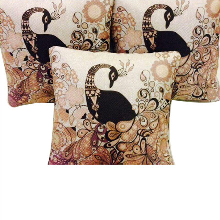 Digital Peacock Print Cushion Covers