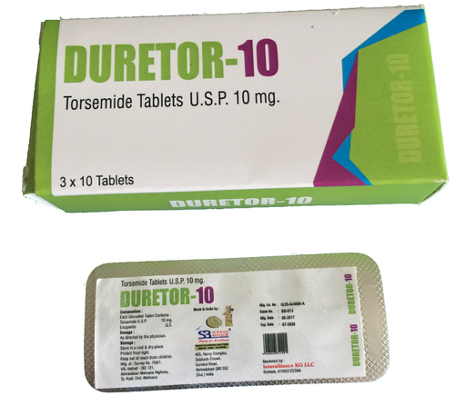 Torsemide Tablets 10 mg