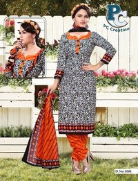 Latest indian printed dress material Shofiya