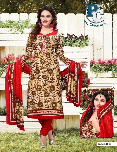 Flower printed dress Material Shofiya