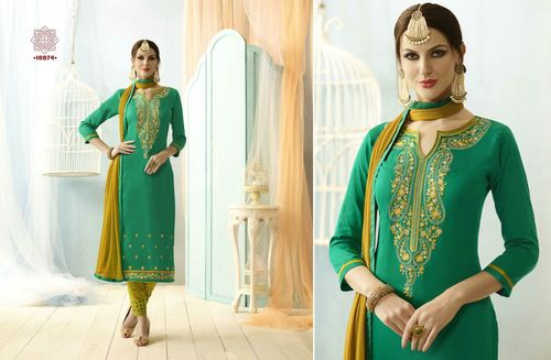 Nazneen dupatta with embrodiery dress