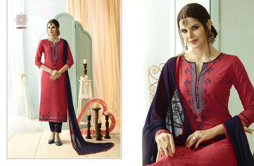 Fency embrodar with nazneen dupatta