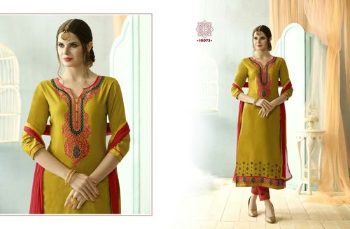 Sundress vol-4 Plain Cotton With Embroidery Work