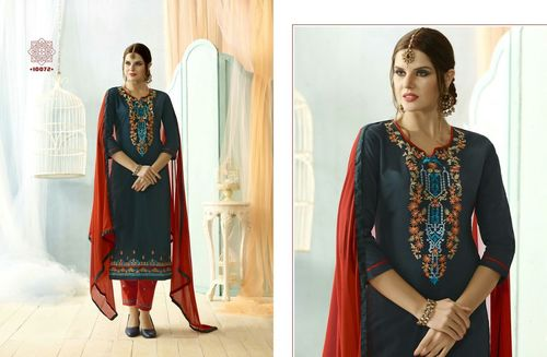 Latest nazneen dupatta with embrodiery work dress