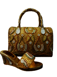 Party Wear Matching Bag & Shoe For Woman