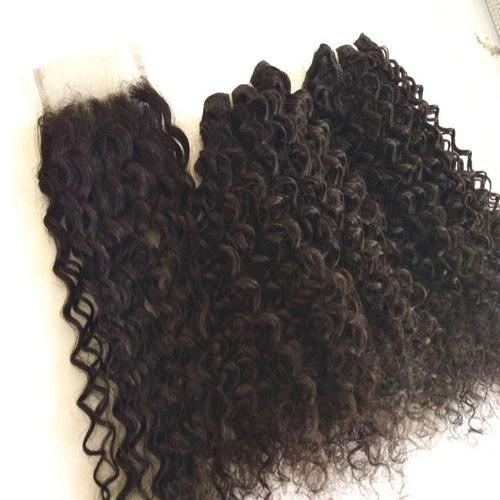 Steam Curly Human Hair, Indian Human Hair