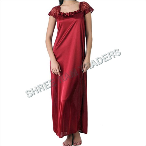 Ladies Fancy Satin Nighty