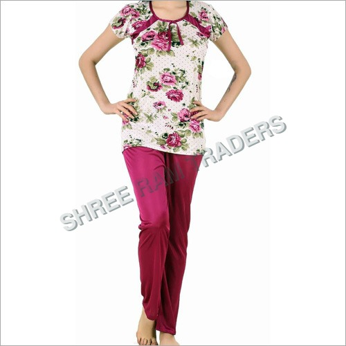 Ladies Floral Print Night Suit
