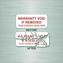 Destructive Temper Proof Label
