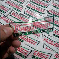 Corporate Transparent PVC Label