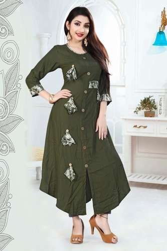 Ladies Fancy Embroided Kurtis