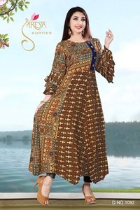 Ladies Long Fancy Kurtis