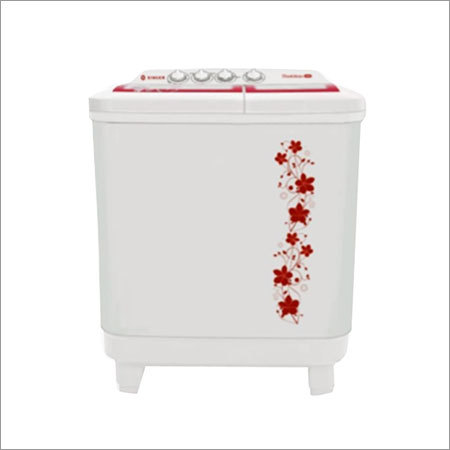 White Printed Washing Machine