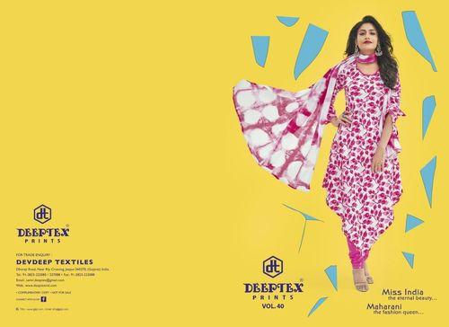 Printed Pink Miss India Collection
