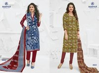 Printed Miss India Dress Material