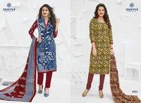 Printed Miss India Dress Material
