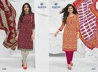 Printed Duppata Miss India Dress Material