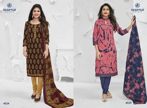 Cotton Printed With Printed Duppata Dress Material miss india