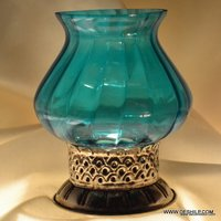 TABLE LAMPS , GLASS TABLE LAMP BASE,MODERN LAMP,FIROZI COLOR LAMP