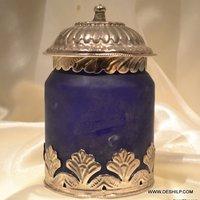 Frosted Jar, Colourful Jar, Jar with Lid, Decorative jar