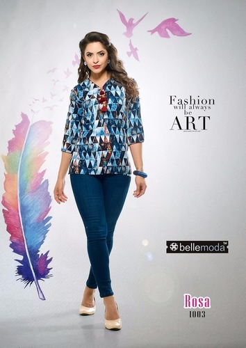 Fancy kurti with jeans