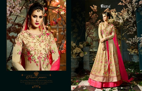 Gold and red dress combination Gown