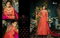 Orange & Pink Long Designer gown