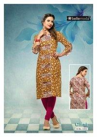 Printed Ginni Cotton rayon dress material