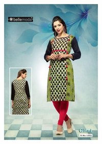 Fancy printed pure cotton rayon dress material